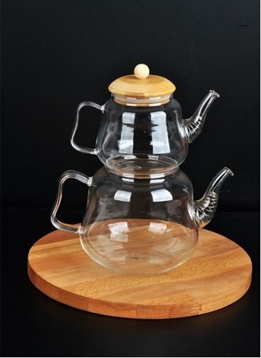 Bayev Cam Çaydanlık Seti - 400775 Renksiz